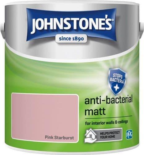 Johnstone's Anti Bacterial Matt 2.5L - Pink Starburst